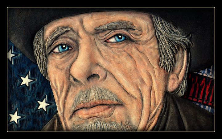 Merle Haggard - Leather Portrai