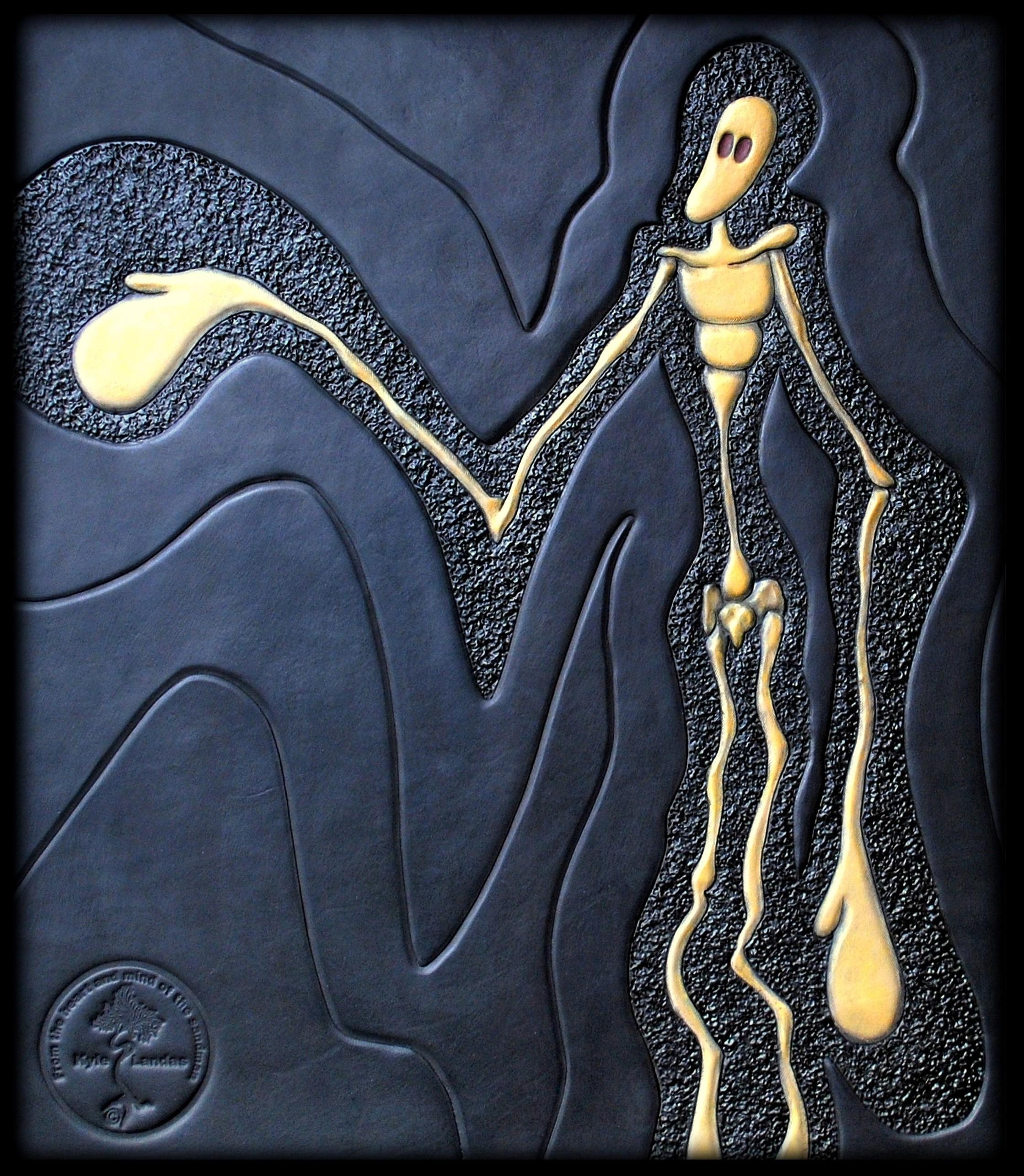 Clairsentience- Kyle Landas Leather Art- Faceless Soul