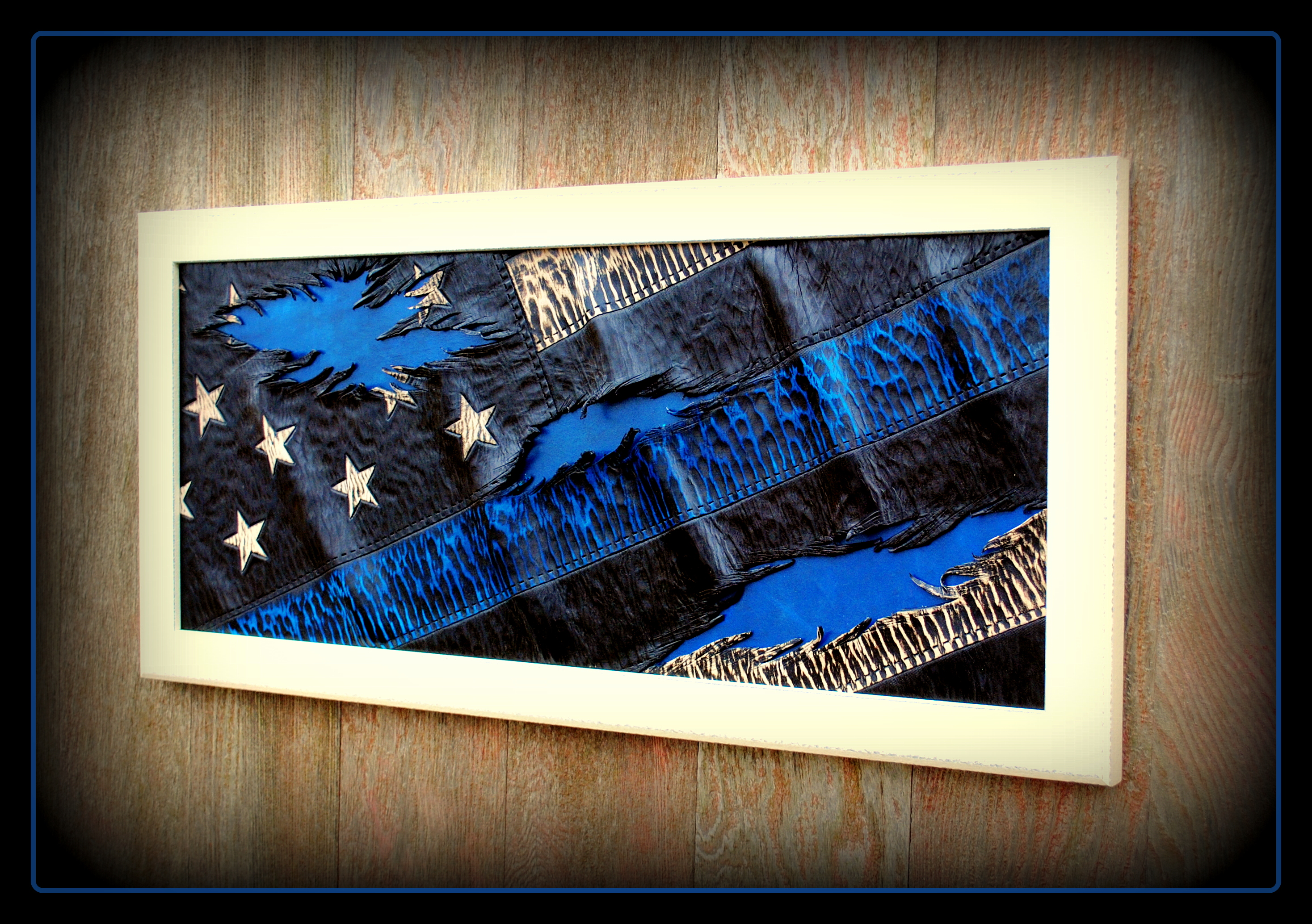 Blue Lives Matter-Tattered Flag