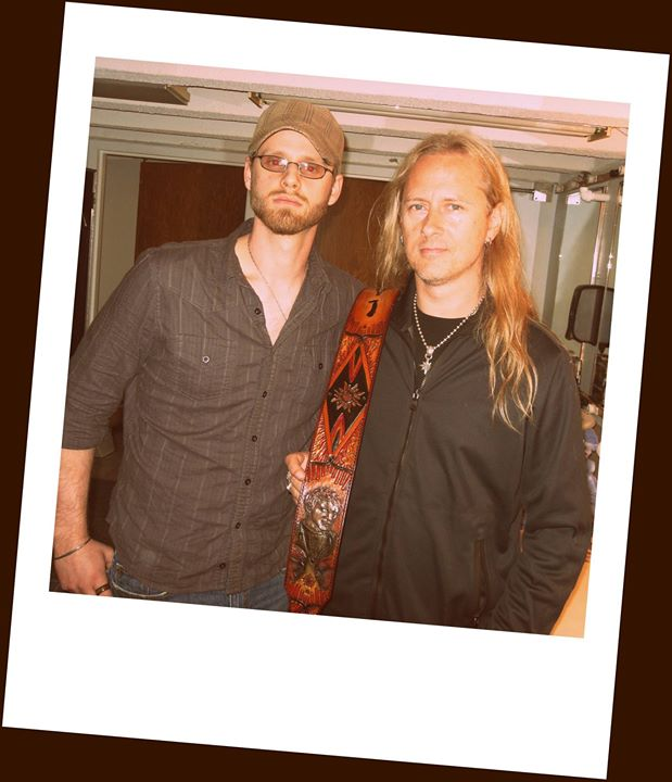 Jerry Cantrell & Kyle backstage