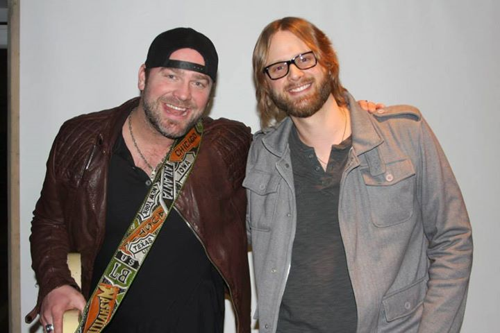 Lee Brice & Kyle Landas backstage