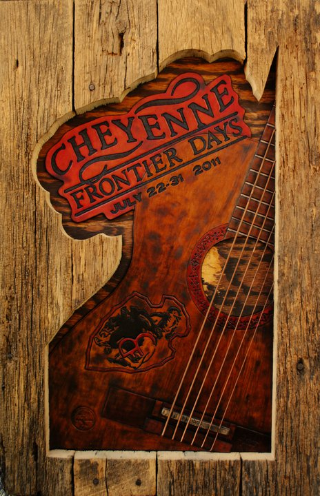 Cheyene Frontier Days Rodeo!! Hand tooled leather, piano strings