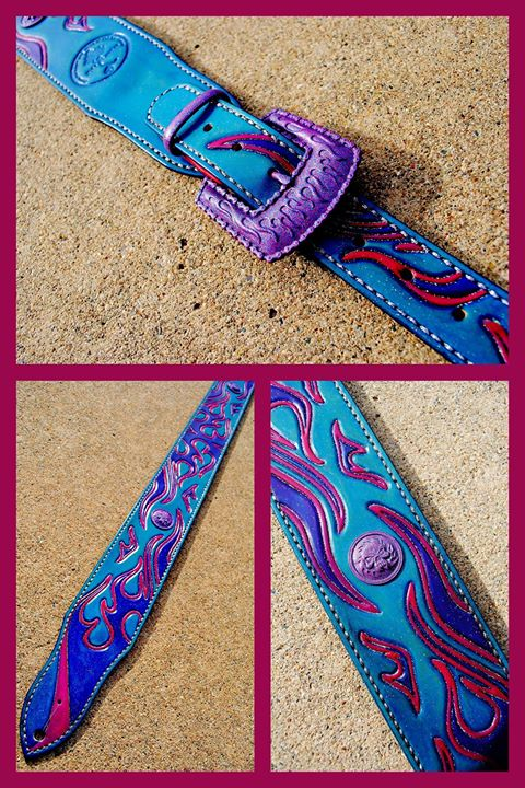 Flame strap in neon colors