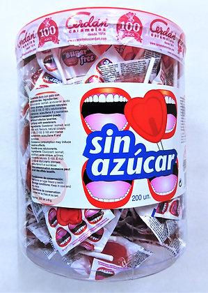 Piruletas sin azúcar Corazón