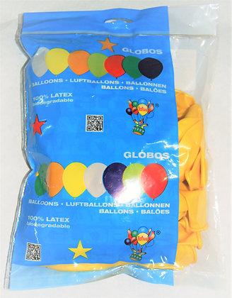 Globos 12T amarillos 50u