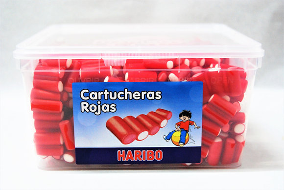Cartucheras rojas Haribo