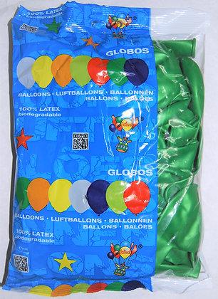 Globos 12T verde 50u