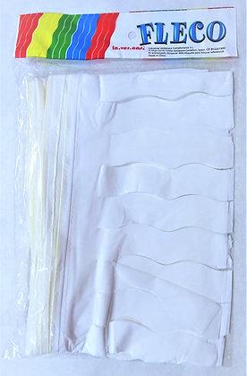 Fleco Color Blanco 25m