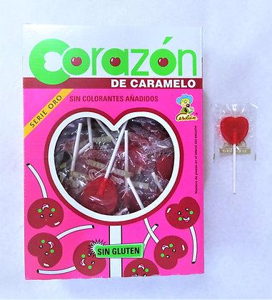 Piruletas Corazón de caramelo