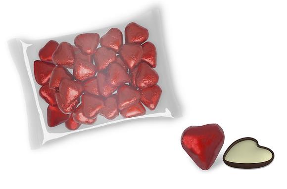 Corazones rojos chocolate