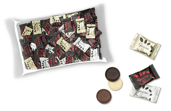 "Napolitanas chocolate ""Gracias por su visita"""