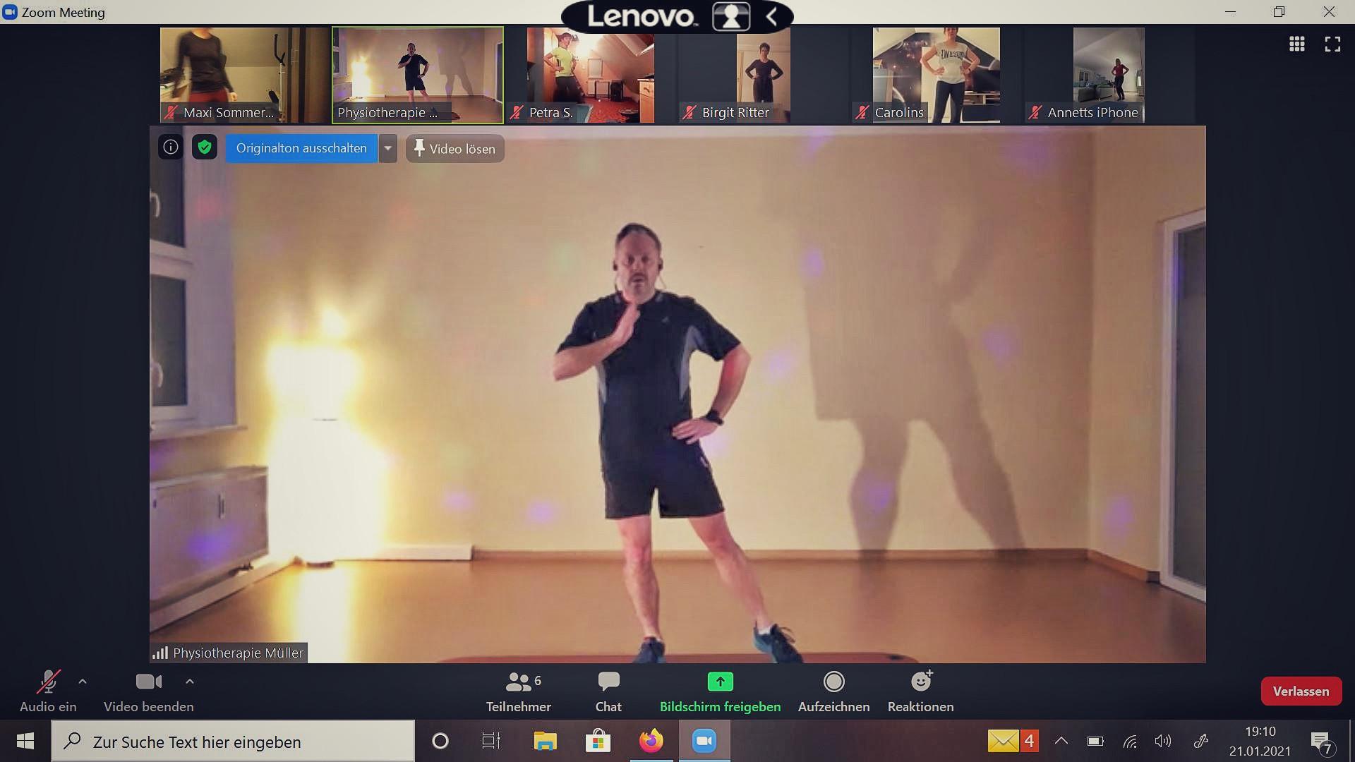 Rückenschule online mit Steffen (60 min)