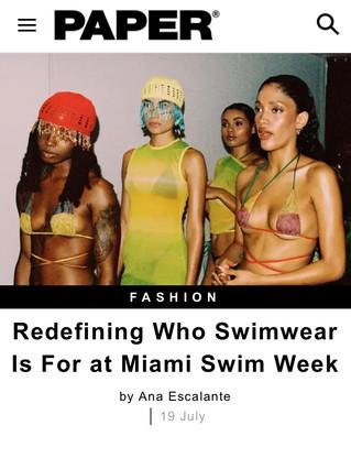 Paper Magazine: Sounds & Swim (2021)