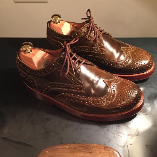 靴磨き コードバンケア1