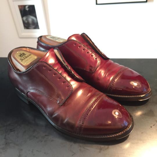 靴磨き コードバンケア4