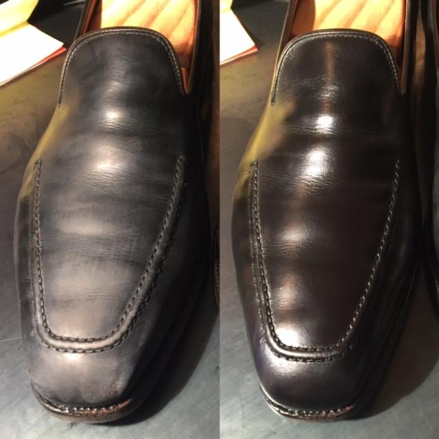 靴磨きBefore&After