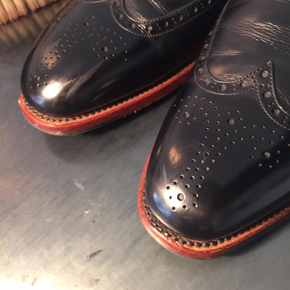 靴磨きBefore