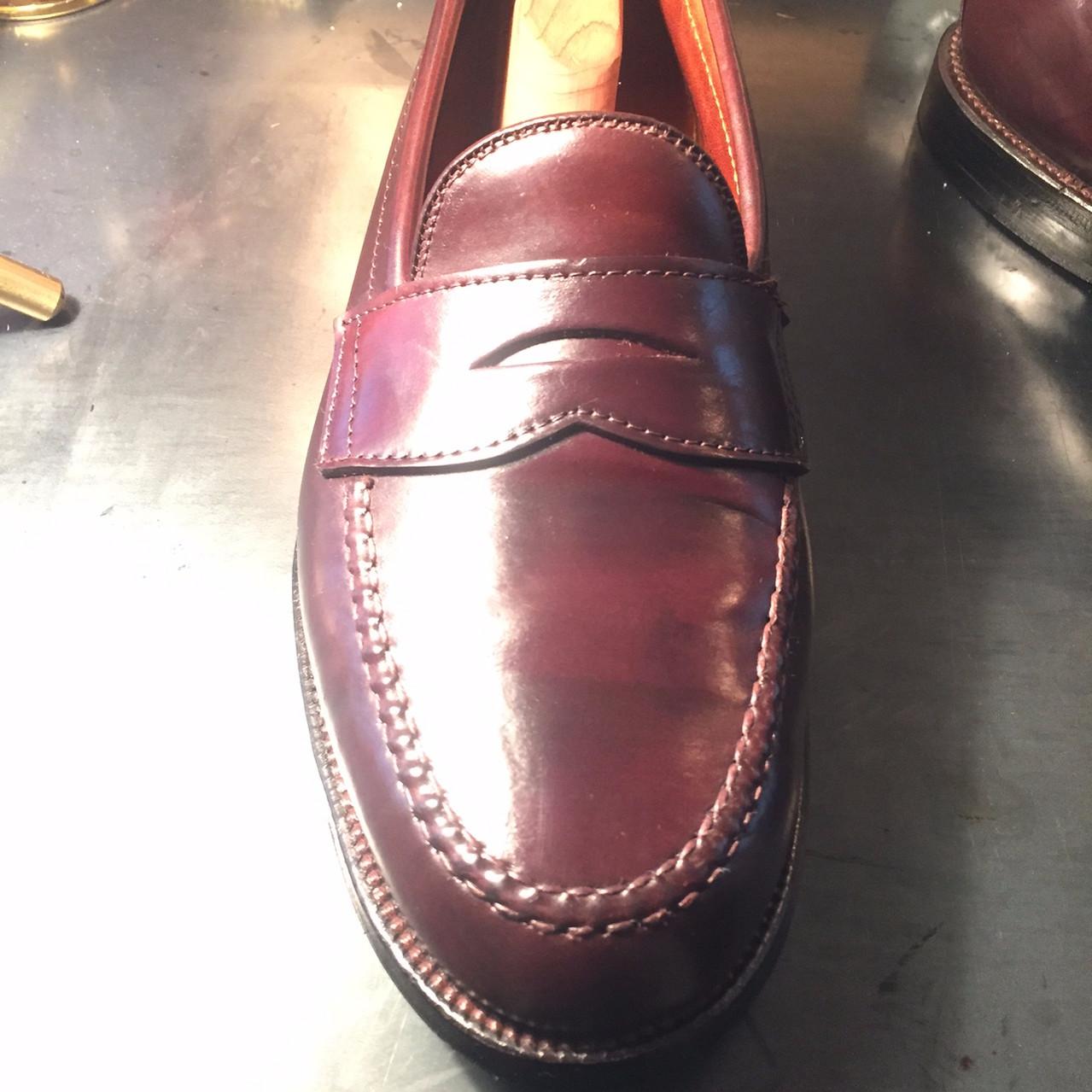 靴磨き After