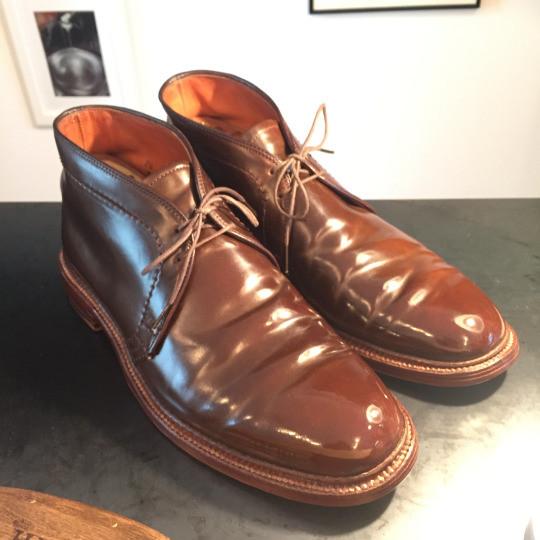 靴磨き コードバンケア3
