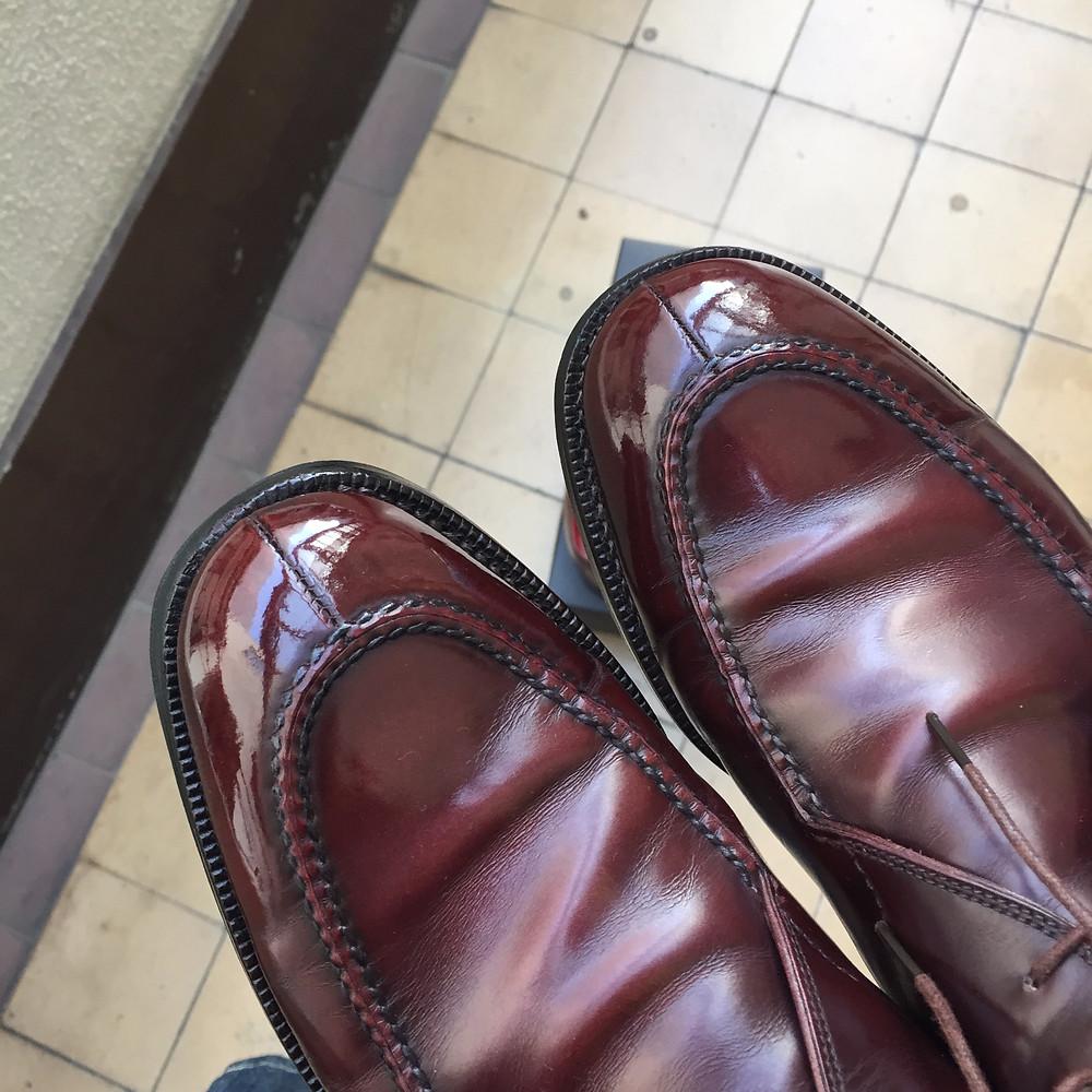 靴磨き 鏡面仕上げ4