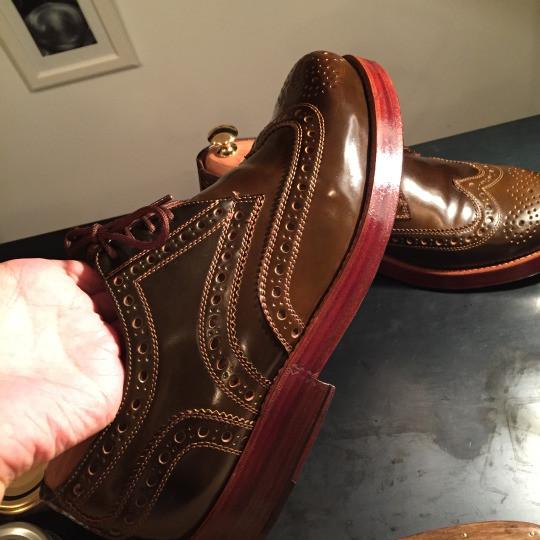 靴磨き コードバンケア2