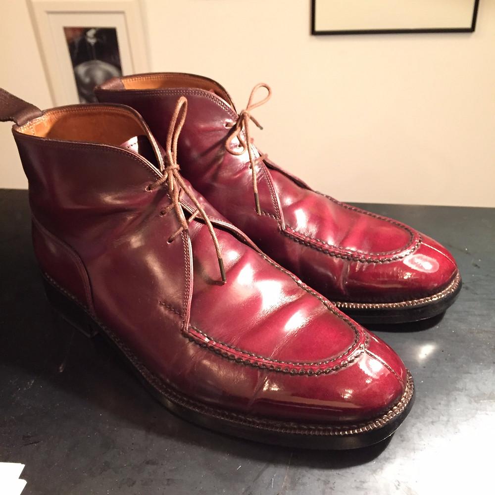 靴磨き 鏡面仕上げ3