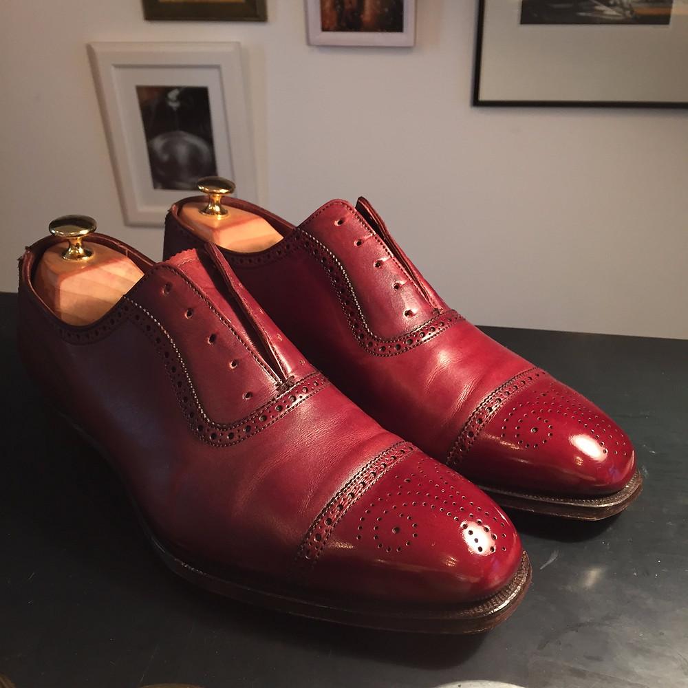 靴磨き 事例 屋内