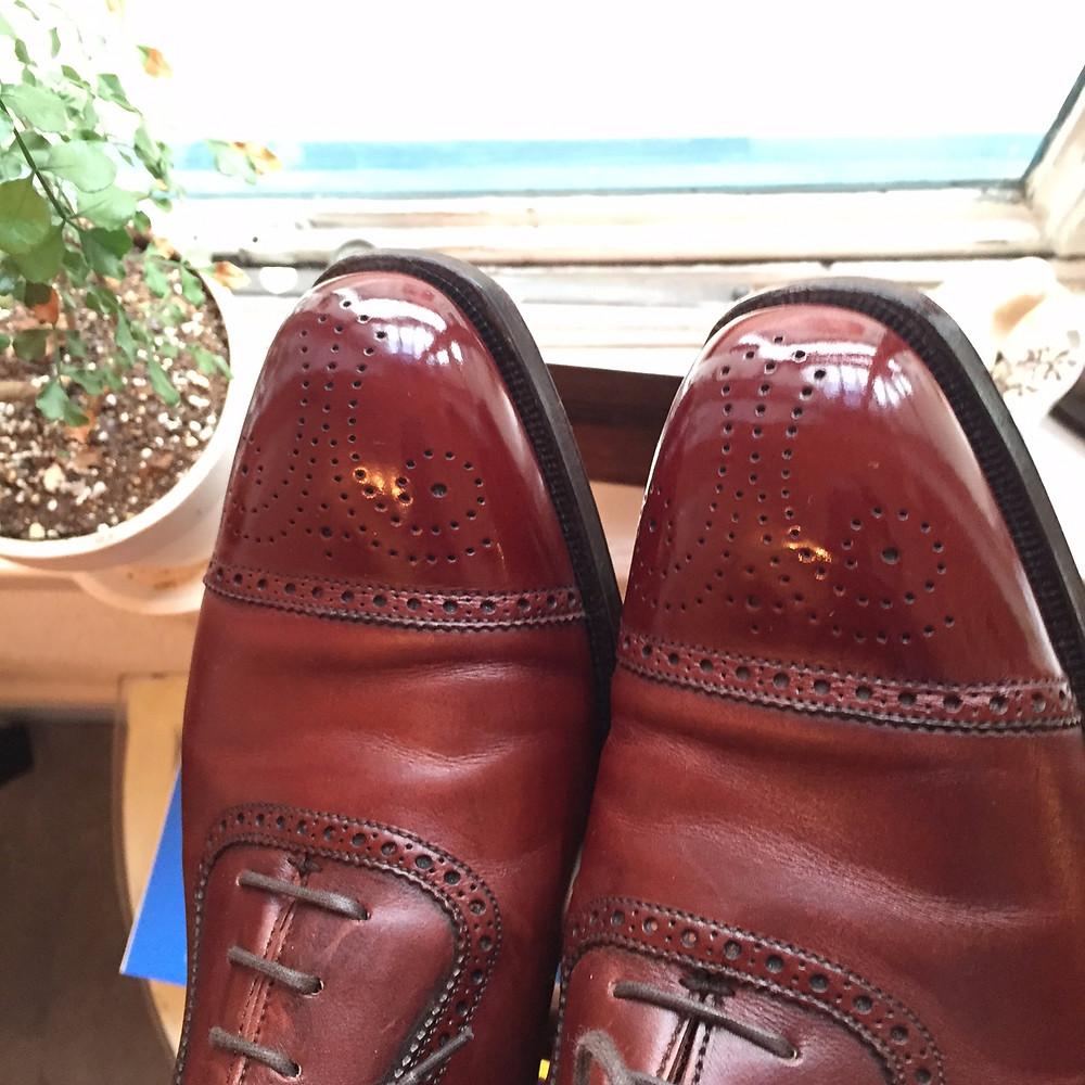 靴磨き事例 屋外