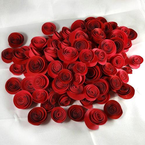 100 Paper Roses