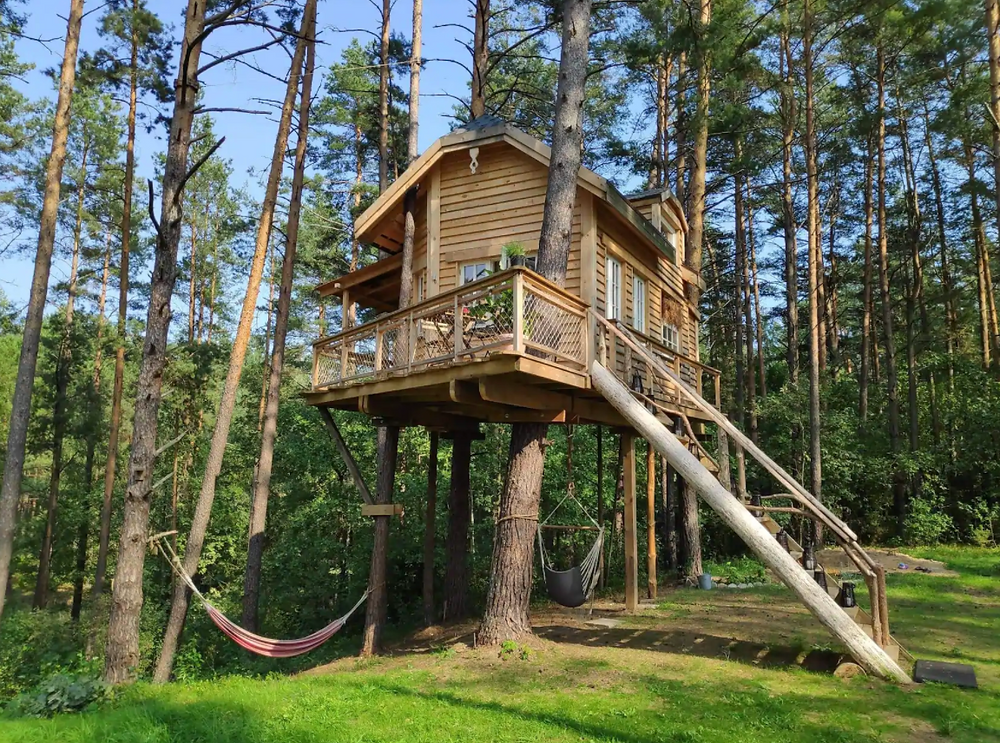 Treehouse Moletai Lithuania