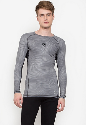 Gametime Men's Print Compression Long Sleeves