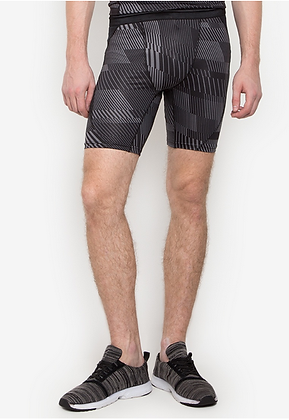 Gametime Men's Print Compression Shorts