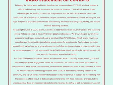 UAAO Statement on COVID-19