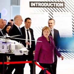 Angela Merkel ILA Berlin Air Show