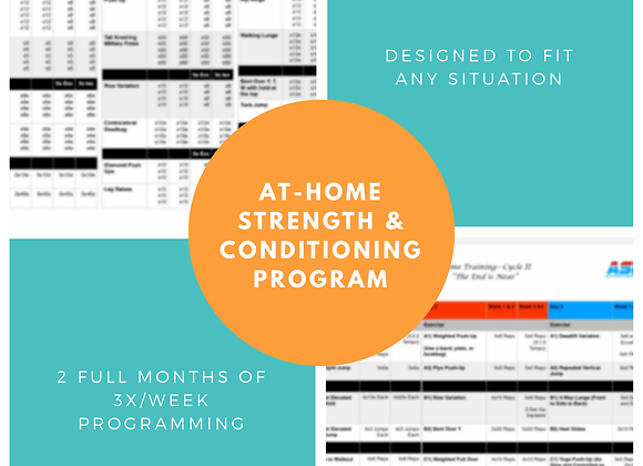 2 Month At-Home Strength & Conditioning Program