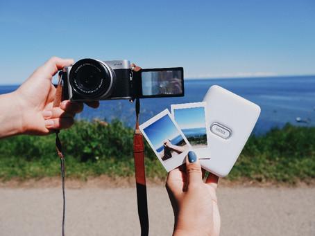הדפסת זיכרונות קיץ עם אינסטקס מיני לינק ופוג'יפילם  X-A7
