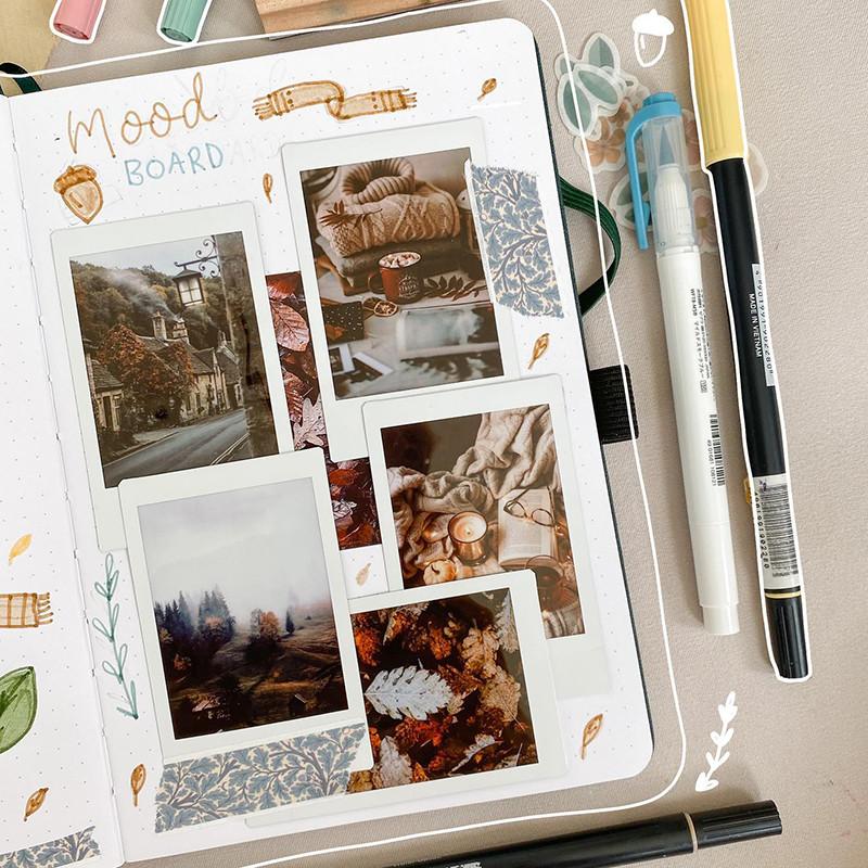 אלבום עם תמונות אינסטקס+עט+טוש