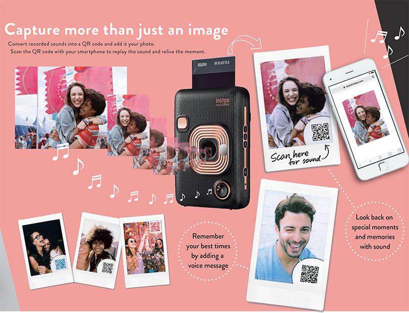 QR מצלמת מיני ליפליי יודעת להקליט קול על התמונה בעזרת