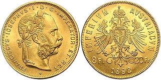 20 Francs Union Latine - 8 Florin or - 8 florin Austria - 8 florin Autriche - Imperivm Avstriacvm - pièce d'or 20 fr 8 fl Austria - pièce Avstriacvm - pièce d'or 8 Fl 20 Fr Autria - pièce d'or Autrichienne - pièce d'or 8Fl 20 frAutriche - achat vente pièces d'or - achat vente monnaies or - vendre des pièces d'or - vendre des monnaies or - acheter des pièces d'or - acheter des monnaies or - achat d'or