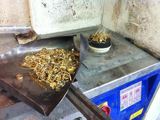 recyclage de l'or, recycler des bijoux or, fondre des bijoux or