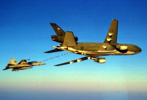 KC-10 refueling an F/A-18