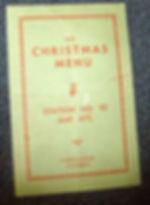 1943 Christmas Menu