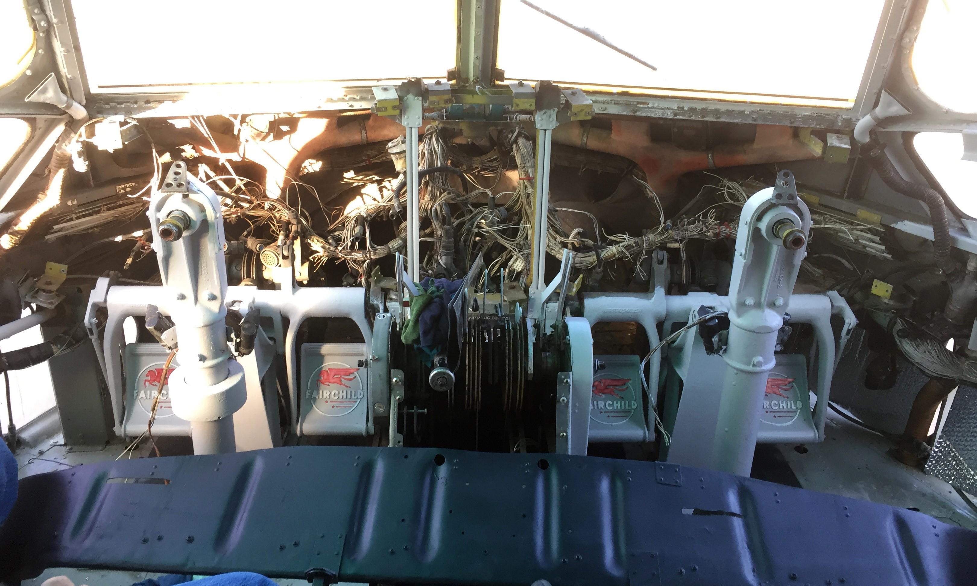 Cockpit Before Restoration