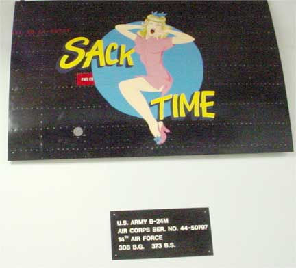 "Nose Art ""Sack Time"""