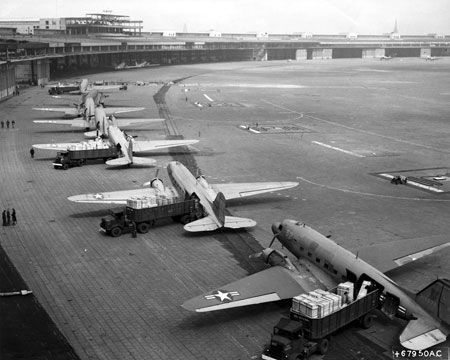 C-47s unloading at Tempelhof