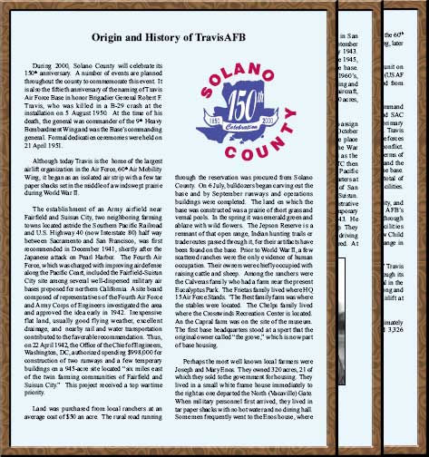 Origin and History of TravisAFB