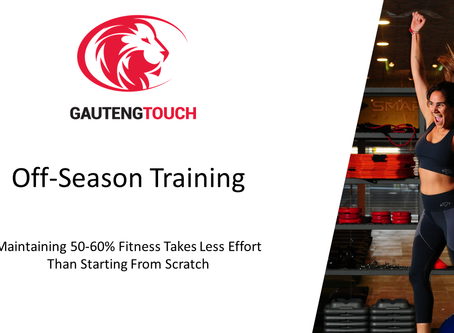 The importance of off season training - Maintaining your greatness.
