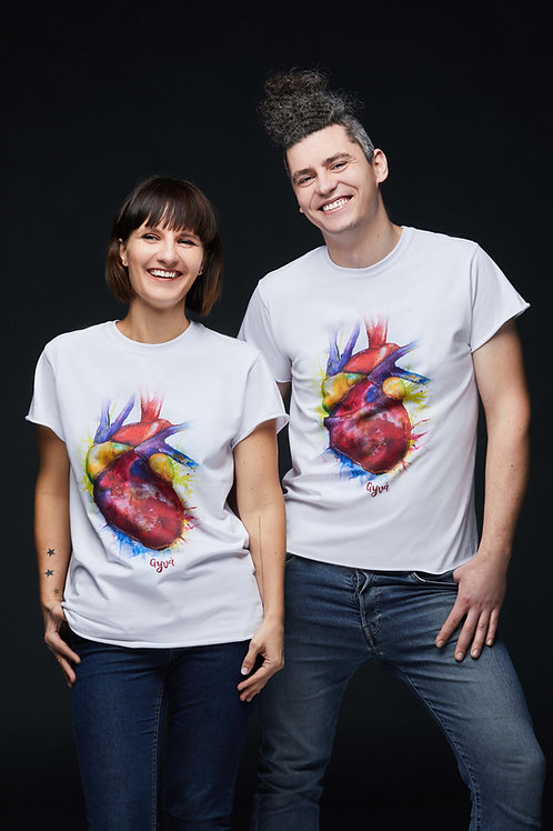 Unisex marškinėliai MANO ŠIRDIS
