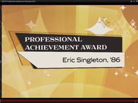 Eric Singleton UCF Professional Achievement Award