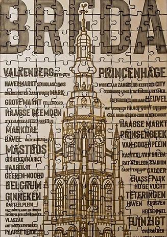 De Grote Kerk van Breda en alle mooie wijken benoemd